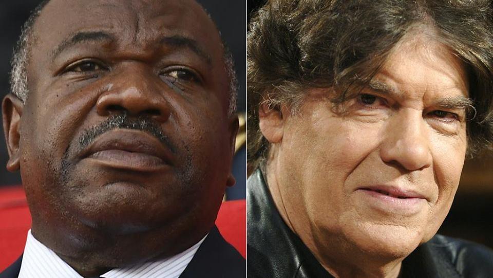 الصحفي الفرنسي ابيير ابييان، والرئيس الغابوني علي بونغو أونديمبا